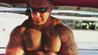 bodybuilder chest dance flexing