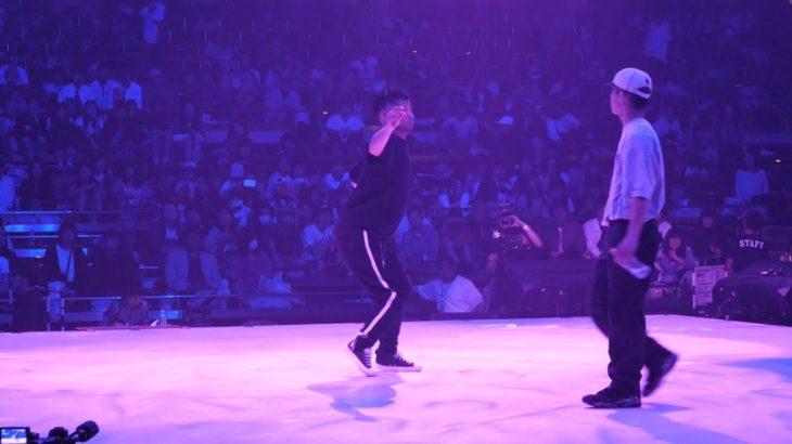 CanDoo vs Eiji aka C☆J BEST8 HIPHOP DANCE ALIVE HERO'S 2018
