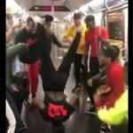 Break dancing on the Train