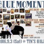 Bebop Dance Event &  Jazz Live –  BLUE MOMENT Vol.6  2016/09/03