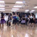 Blue Night Cha Beginner Line Dance Demo by Vogue Dance Club Dancers