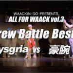 ALL FOR WAACK vol3 – mysgria vs 豪腕 – Crew Battle Best4
