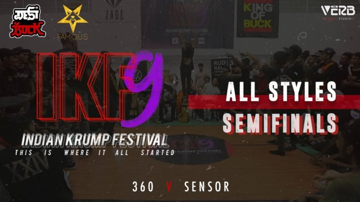 360 vs Sensor | All Styles Semi-Finals | Indian Krump Festival 9 2019 | TheVerb Official