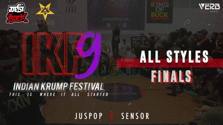 Juspop vs Sensor   All Styles Finals   Indian Krump Festival 9 2019   TheVerb Official