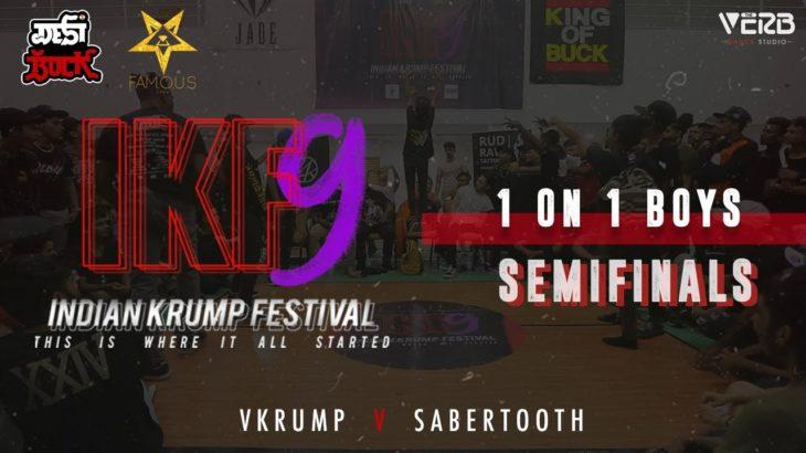 Sabertooth vs Vkrump   Boys 1v1 Semi-Final   Indian Krump Festival 9 2019   TheVerb Official