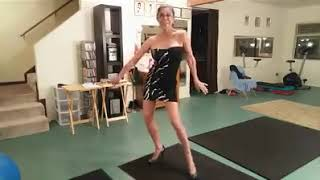 Glamma benefits of working out, dancing, flexing, little black dress