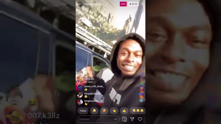 NBA Youngboy live dancing and flexing hard