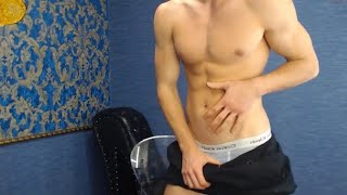 Sexy Stud Flexing Muscles & Strip Tease Dancing